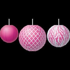 Pink Wild Moroccan Paper Lanterns