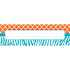 Orange and Teal Wild Moroccan Name Plates