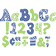 "Navy and Lime Wild Moroccan 5"" Sassy Font Letters"