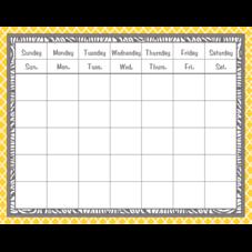 Lemon and Gray Wild Moroccan Calendar Grid