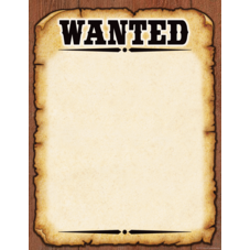 Western Wanted Poster Chart