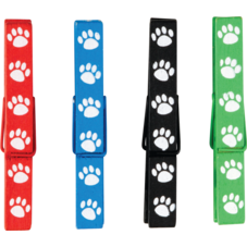 Paw Prints Magnetic Clothespins