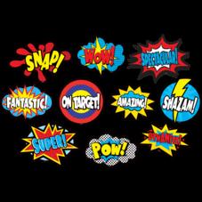 Clingy Thingies Superhero Sayings Accents