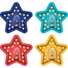 Clingy Thingies Marquee Stars Hooks 4 pc