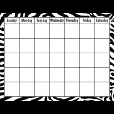 Zebra Calendar Chart