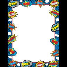 Superhero Blank Chart