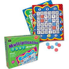 Multiplication: Four in a Row Game