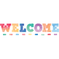 Watercolor Welcome Bulletin Board Display Set