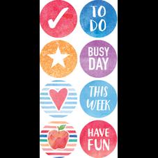Watercolor Planner Mini Stickers