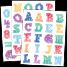 Watercolor Alphabet Stickers