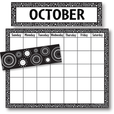 Black/White Crazy Circles Calendar Set