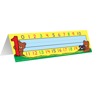 TCR1114 Alphabet/Numbers Tented Name Plates Image