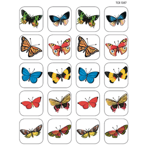 TCR1387 Moths & Butterflies Stickers Image