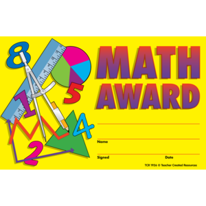 TCR1926 Math Awards Image