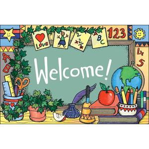 TCR1963 School Tools (Welcome) Postcards Image