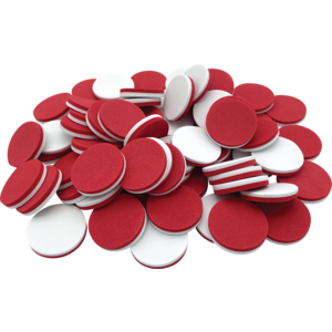 Foam Counters: Red/White Image