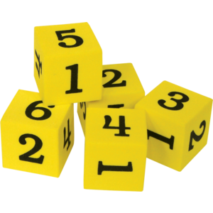 TCR20604  Foam Numbered Dice (Numerals 1-6) Image