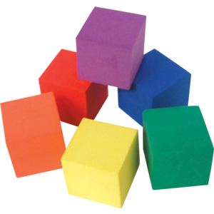 TCR20615 Foam Color Cubes Image