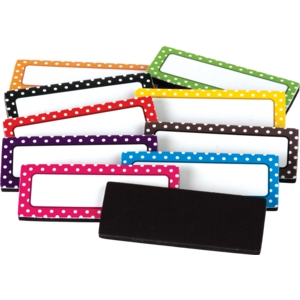 TCR20650 Polka Dots Magnetic Labels Image