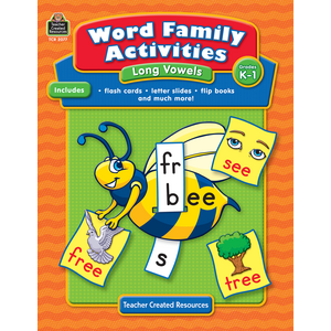 TCR2077 Word Family Activities: Long Vowels Grade K-1 Image