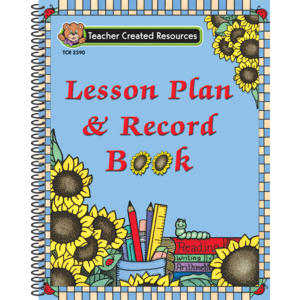 TCR2390 Sunflowers Lesson Plan & Record Book Image