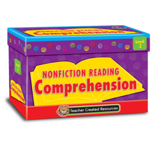 TCR2552 Nonfiction Reading Comprehension Cards Level 2 Image