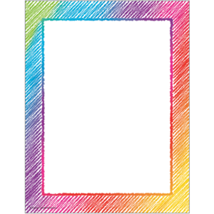 TCR2688 Colorful Scribble Computer Paper Image