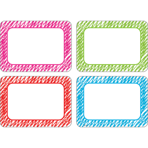 TCR2689 Scribble Name Tags/Labels Multi-Pack Image