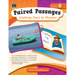 TCR2915 Paired Passages: Linking Fact to Fiction Grade 5 Image