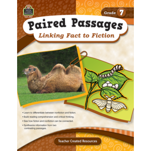 TCR2917 Paired Passages: Linking Fact to Fiction Grade 7 Image