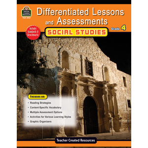 TCR2927 Differentiated Lessons & Assessments: Social Studies Grade 4 Image