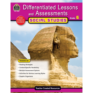 TCR2929 Differentiated Lessons & Assessments: Social Studies Grade 6 Image