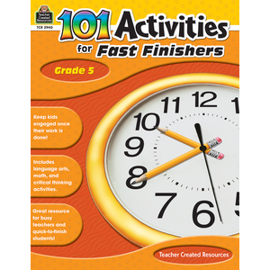 TCR2940 101 Activities For Fast Finishers Grade 5 Image