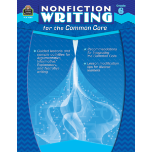 TCR3080 Nonfiction Writing for the Common Core Grade 6 Image