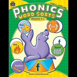 TCR3122 Full-Color Phonics Word Sorts Image