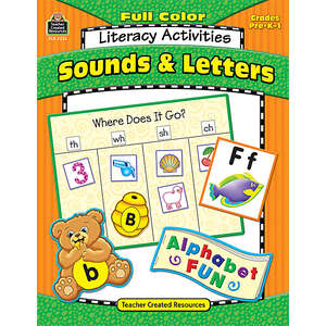 TCR3235 Full-Color Literacy Activities: Sounds & Letters Image