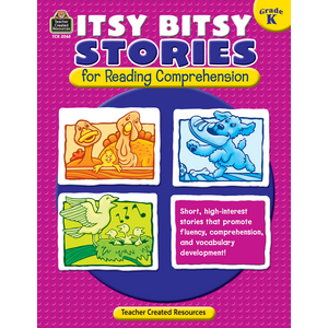 TCR3265 Itsy Bitsy Stories for Reading Comprehension Grade K Image
