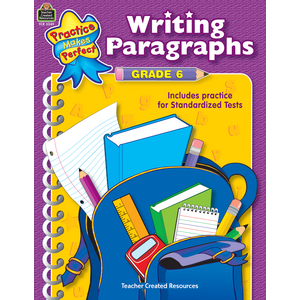 TCR3349 Writing Paragraphs Grade 6 Image