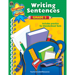 TCR3465 Writing Sentences Grade 3 Image