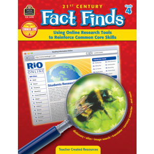 TCR3493 21st Century Fact Finds: Using Online Research Tools to Reinforce Common Core Skills- Grade 4 Image