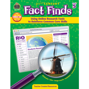 TCR3494 21st Century Fact Finds: Using Online Research Tools to Reinforce Common Core Skills- Grade 5 Image