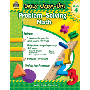 TCR3578 Daily Warm-Ups: Problem Solving Math Grade 4 Image