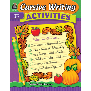 TCR3592 Cursive Writing Activities Image