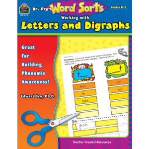 TCR3710 Dr. Fry's Word Sorts: Working with Letters and Digraphs Image