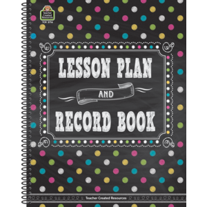 TCR3716 Chalkboard Brights Lesson Plan and Record Book Image