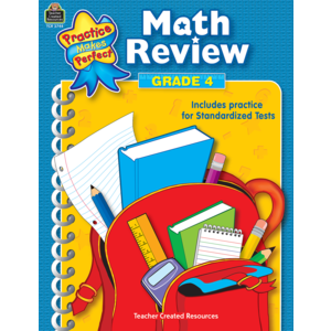 TCR3744 Math Review Grade 4 Image