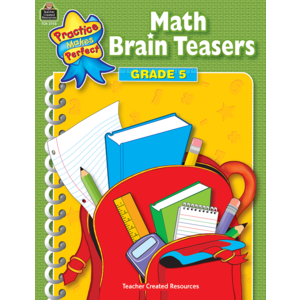 TCR3755 Math Brain Teasers Grade 5 Image