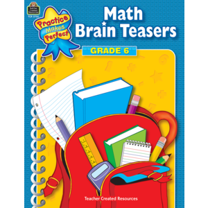 TCR3756 Math Brain Teasers Grade 6 Image