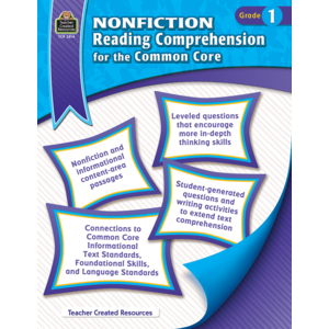 TCR3814 Nonfiction Reading Comprehension for the Common Core Grade 1 Image