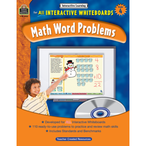 TCR3855 Interactive Learning: Math Word Problems Grade 4 Image